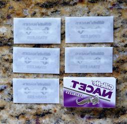 5 nacet double edge razor blades