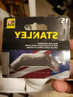5 PACKS OF 15 STANLEY - HEAVY DUTY UTILITY RAZOR BLADES - AL