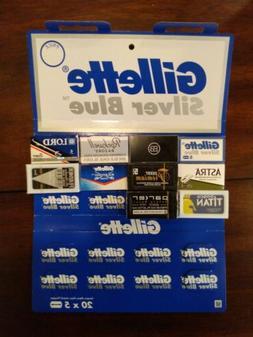 50 Double Edge Safety Razor Blades Variety Sampler Gillette