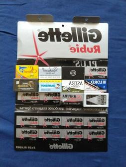 50 Double Edge Safety Razor Blades Variety Sampler Gillette