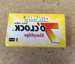 Gillette 7 O'Clock SharpEdge Double Edge Razor Blades Yellow