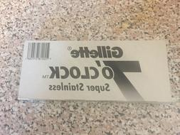 GILLETTE 7 O'CLOCK SUPER STAINLESS DOUBLE EDGE RAZOR SHAVI