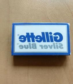 7 Gillette Silver Blue Double Edge Safety Razor Blades + 1 B