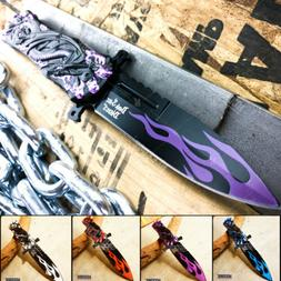 "8.25"" 3MM RESCUE HUNTING FANTASY FLAMING DRAGON Razor Blade"