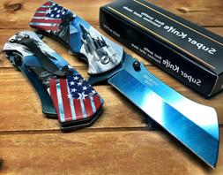 "8.5"" TACTICAL US AIR FORCE  Spring Assisted  Pocket Knife CL"