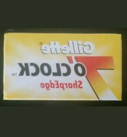 8 Gillette 7Oclock Double Edge Safety Razor Blades Sharp Edg