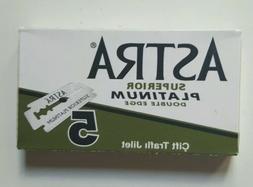 8 Astra Double Edge Safety Razor Blades Russia Green