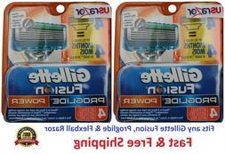 8 Gillette Fusion Proglide Power Razor Blades Refills Cartri