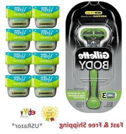 *8 Gillette Venus Embrace Razor Blades Cartridge Body Shaver