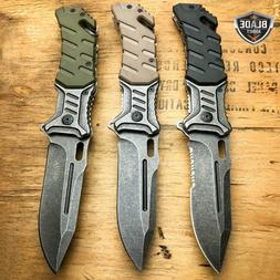 """8"""" Military BALLISTIC Tactical Combat Spring Assisted Open P"""