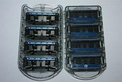 8 Refills Fit Schick Quattro Titanium Trimmer Razor 5 Blades