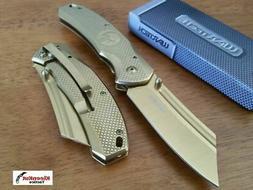 "8"" TACTICAL Punisher Gold Spring Assisted Open Pocket Knife"