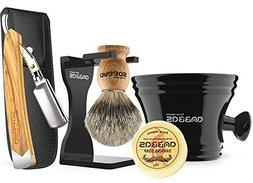 Anbbas Shaving Set with Best Badger Shaving Brush,Stand and