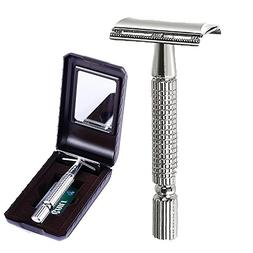 BAILI Men's T-Shaped Shaving Safety Razor Shaver Handle Trim