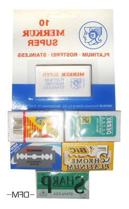 Detailsformen Double Edge Razor Blade Sample Pack #1-40 Blad