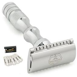 Double Edge Safety Razor - Classic Men's Shaving Razor with