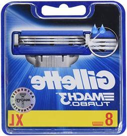 Gillette 27492-3 Mach 3 Mens Turbo Refill Cartridge Blades -