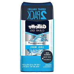 Gillette Anti-Perspirant Deodorant Clear Gel, Cool Wave 3.8