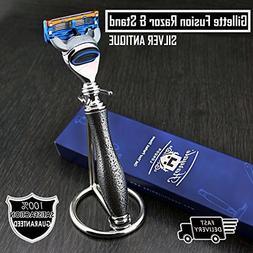Gillette Fusion Compatible Men's Shaving Razor featuring Sil
