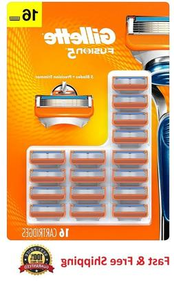 Gillette Fusion5 Men's Razor Blades - 16 Cartridge Refills ,