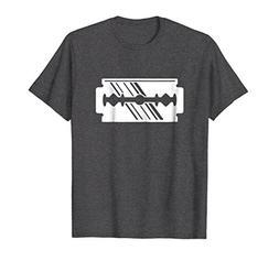 Mens Safety Razor Blade Sarcastic T-Shirt XL Dark Heather
