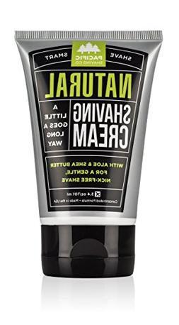 Pacific Shaving Company Natural Shaving Cream, 3.4 Ounce, Pa
