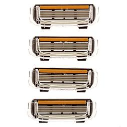 Premium 4-Blade  Replacement Cartridges for Cobra Razors, Le