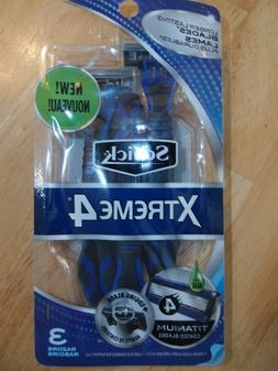 Schick Men's Xtreme 4 Disposable Razor, 3 Count
