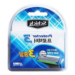Schick Protector3 razor blade 1Pack = 4 pcs Razor refill bla