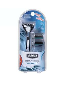 Schick Quattro Titanium Razor for Men Value Pack with 1 Razo