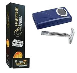 Shaving Factory Double Edge Razor + Derby Premium Super Stai