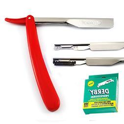 Straight Razor - Shaving Razor 100 Derby Razor Blades Single
