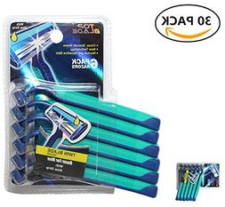 Top Blade Men's Bulk Disposable Razors – Two Blades With