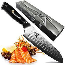 ZELITE INFINITY Santoku Knife 7 Inch - Alpha-Royal Series -