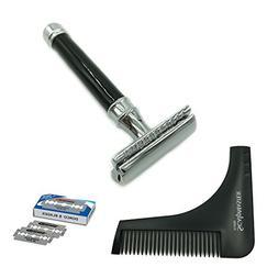 Zeva Double Edge Safety Razor Adjustable with Beard Shaping