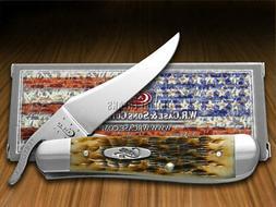 Case Amber Bone Russlock Pocket Knife