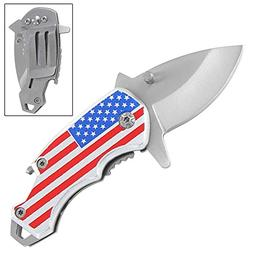 Assisted Opening One Nation Pocket Knife