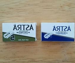 Astra Duo DE Safety Blades  Stainless and Platinum