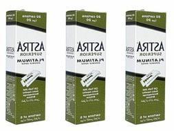 Astra Superior Platinum Double Edge Razor Shaving Blades 50