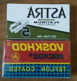 Astra Voskhod Duo  DE Safety Razor Blades Double Edge