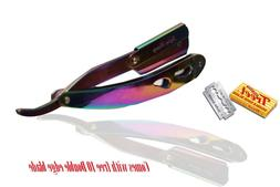 Barber Cut Throat Stainless Steel Straight Razor, Titanium R