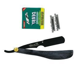 barber men s shaving exposed blade straight
