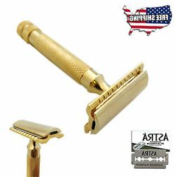 BEARD CUT THROAT BUMP FREE DOUBLE EDGE SAFETY RAZOR + 5 ASTR