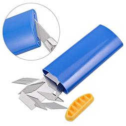 FOSHIO 1PCS Blue 30 Degree Cutter Utility Knives Blade Dispo