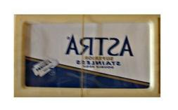 Astra Blue Superior Stainless Double Edge Razor Blade - 50 C