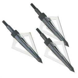 Broadhead Arrow Head Set 3 Blades Archery Accessory