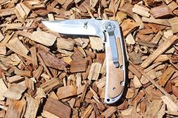 Browning knives 338 Tactical Folding Knives, SHIRO Wood Hand