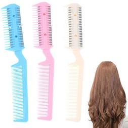 Color Razor Comb Hair Cutter Thinning Shaper Comb Razor Blad