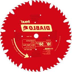Diablo Combination Circular Saw Blade - 10in., 50 Tooth, For