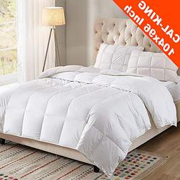 WhatsBedding 100% Cotton Cover White Goose Duck Down And Fea